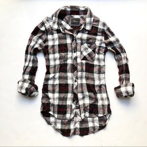 🆕Rails Plaid Hunter Top Red White Black